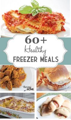 60+ healthy freezer meals #healthy freezer meals freezer meal ideas #crockpot #slowcooker crockpot meals