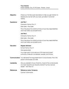 Free Microsoft Word Resume Templates For Download  Template