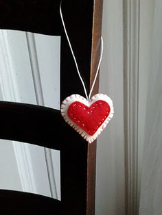 Felt heart adornment