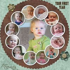 Baby's First Year, Circle Design using Creative Memories' Story Book Creator Plus (But you could do it yourself)