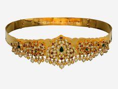 Pachi Work Latest Gold Vaddanam