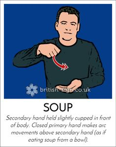 Today's #BritishSignLanguage sign is: SOUP #HomemadeSoupDay