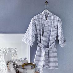 Spa Stripe Robe #westelm