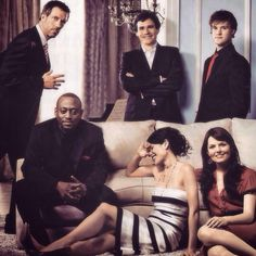 (Clockwise from top right)- Jesse Spencer as Dr. Robert Chase, Jennifer Morrison as Dr. Allison Cameron, Lisa Edelstein as Dr. Lisa Cuddy, Omar Epps as Dr. Eric Foreman, Hugh Laurie as Dr. Gregory House and Robert Sean Leonard as Dr. James Wilson in House m.d.
