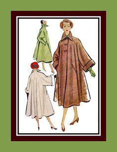 Vintage 1951GLAM GIRL Swing Coat Sewing by FarfallaDesignStudio, $29.00