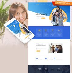 40 best business website templates images on pinterest business comersilo responsive website template accmission Gallery