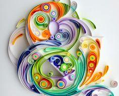 Colorful Filigree Design
