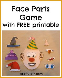 Craftulate: Face Parts Game - with FREE printable