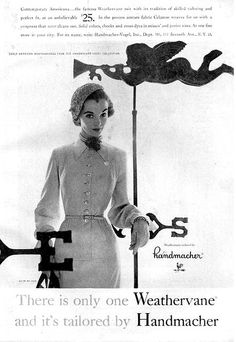 Handmacher 1952 #classic #vintage #black-and-white #coat #hat #1950s