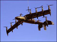 NASA testa protótipo de drone híbrido que pousa e decola na vertical