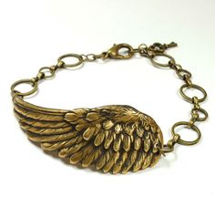 Steampunk Bracelet Steam Punk Bracelet Angel Wing Fantasy Feathered Wing Jewelry | eBay