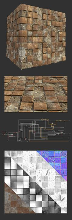 ArtStation - Procedural old tile floor, Leonardo Iezzi
