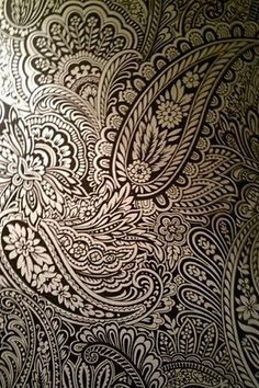 Paisley ... Would love to find this in wallpaper!