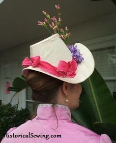 1880s French Bonnet Pattern This is a pattern for a buckram hat/bonnet frame…