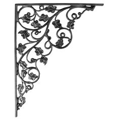 """Perfect for kitchens, sunrooms or patios our Ivy inspired brackets will accent shelves, doorways or cabinets and beautifully blend into your garden style decor.brbrliDimensions: 14.25""""w x 17.75""""..."""