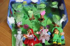 DIY Children's : DIY Little Red Riding Hood Story Box