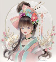 Image in ❣ ANIME ❣ collection by immeizuo on We Heart It Fantasy Art Women, Beautiful Fantasy Art, Korean Art, Asian Art, Anime Art Girl, Manga Art, Fantasy Kunst, Chinese Art, Cool Artwork