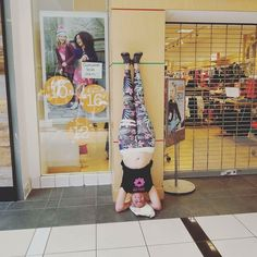 @yogini_angeliq you make our pants look great!  Day 10 of #luckyvitaminyogachallenge #salambasirsasana #headstand I chose to do it at the mall because why not? I wish my shirt didn't come untucked being that I was already attracting some attention by standing on my head in front of Gymboree on a Sunday afternoon but it is what it is. Hello world meet my perfectly imperfect belly and my atypical yoga body. #luckyvitamin #yogaeverywhere #yogaeverydamnday #selflove #yogabody #upsidedown…