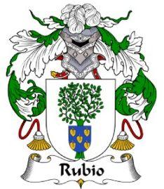 Rubio family crest