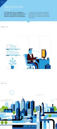 BBVA Corporative Illustration by Mauco Sosa, via Behance #Corporative #Illustration