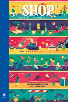 SHOP Magazine — Dusseldorf edition, cover illustration by Jack Hudson