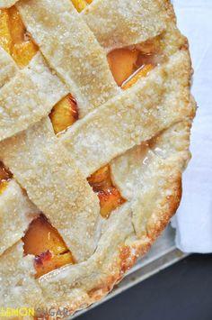 Peach Pie with Buttermilk Crust.  want for crust recipe