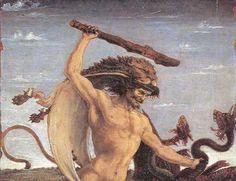 Antonio del Pollaiuolo, Hercules and the Hydra, c. 1475, tempera on wood, 17 x 12 cm, Galleria degli Uffizi, Florenc