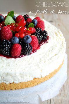 No-bake berry cheesecake (in italian) Cheesecake senza colla di pesce