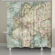 The soft colors on this vintage map will inspire you to travel the world! All of our products are digitally printed to create crisp, vibrant colors and images. Made to order in the USA, with you in mi