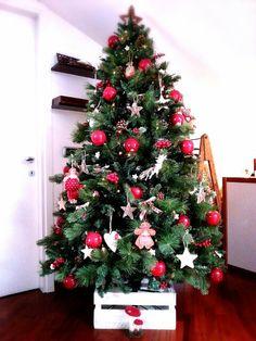 Nel bosco di Babbo Natale: solo legno e stoffa x le nostre decorazioni!
