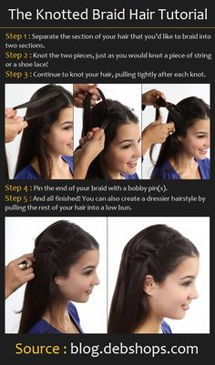 Knotted Braid Hairstyle | Beauty Tutorials