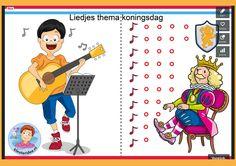 Interactieve liedlijst met veel liedjes voor Koningsdag, Kleuteridee