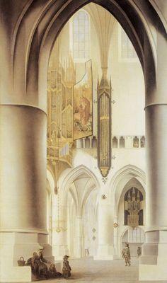 http://www.pubhist.com/works/05/large/5050.jpg Pieter Saenredam, St Bavokerk, Haarlem watercolor