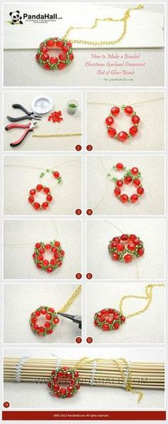 christmas bracelets with glass pearls diy - Google Search