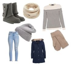 """""""Let it snow"""" by tphillips356 on Polyvore featuring UGG, UGG Australia, Helmut Lang, Saint James and Barbour"""