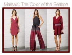 """Marsala: The Color of the Season"" by edressme ❤ liked on Polyvore featuring Greylin"