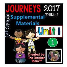 Journeys 1st Grade Unit 1 Supplemental Materials 2017 : Journeys aligned 2017 Edition unit 1. This bundle contains a variety of activities from each lesson of Unit 1 to teach, re-teach, practice or assess the various lessons taught. Each activity is unique to each lesson. $