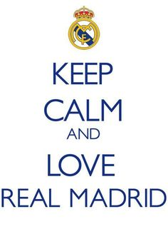 Real Madrid - La Liga team and one of the greatest clubs in the world! Real Madrid Club, Real Madrid Soccer, Real Soccer, Real Madrid Football Club, Football Soccer, Keep Calm And Love, My Love, Lo Real, Keep Calm Quotes