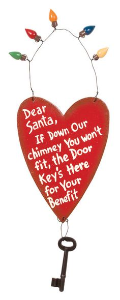 D-SANTAS KEY DOOR HANGER - Product Detail - By Holidays || Ohio Wholesale