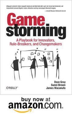 Gamestorming turns simple office supplies like sticky notes and index cards into a powerful platform for changing the game of business. Gamestorming is a proven approach to real-life, roll-up-your-sleeves-and-get-your-hands-dirty innovation. By Dave Gray, Sunni Brown and James Macanufe