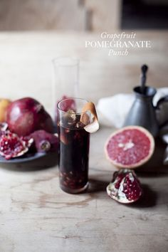 Grapefruit-Pomegranate Punch with or without the vodka