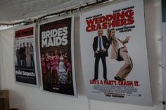 Movie themed wedding posters for reception  http://thingsfestive.blogspot.com/2012/12/movie-themed-wedding-on-mackinac-island.html