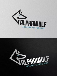 Alphawolf Logo Template AI, EPS, PSD