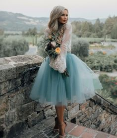 Our Juliet Skirt is made with layers of dreamy tulle in a beautiful shade of dusty blue. The perfect standout piece for your special day! See more here: https://www.blisstulle.com/collections/seasonals/products/the-juliet
