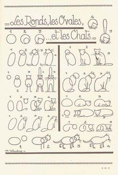 How to draw a cat. I think this would be fun for Elizabeth :)