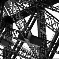 Sydney Harbour Bridge #australia #architecture #bridge #metal #abstract #urban #city #design #sydney #harbour #nsw #photography #photo #alexefimoff #print #blackandwhite #lines #shapes #geometric #geometry #stainlesssteel #art #intertwined