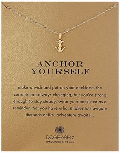 Anchor Yourself Pendant Necklace | College graduation gift ideas | Graduation gifts for daughter, sister, best friend