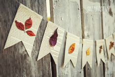 Book page and autumn leaf DIY Project for Fall