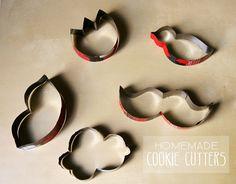 Cortadores de biscoitos feitos de lata                                                                                                                                                     Mais