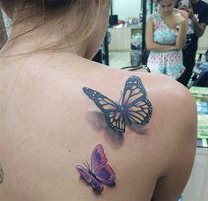 18 Mejores Imágenes De Tatuajes De Mariposas En La Espalda Tatoos